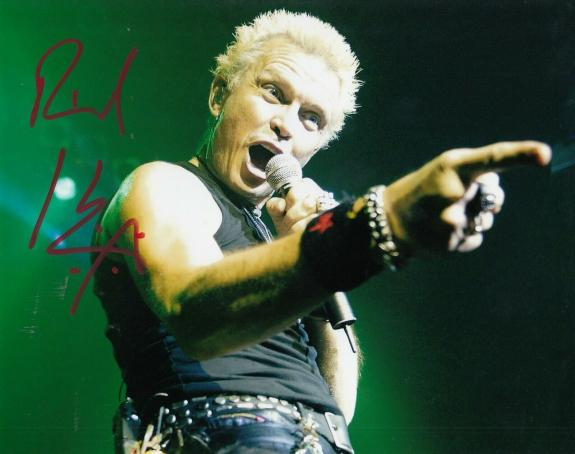 BILLY IDOL signesd (MUSIC SINGER) 8X10 photo *Generation X Rebel Yell* W/COA #4