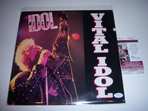 Billy Idol Vital Idol Last One Jsa/coa Signed Lp Record Album
