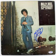 Billy Joel 52nd Street Signed Album Cover W/ Vinyl Autographed PSA/DNA #Z55790
