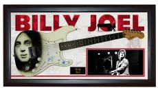 Billy Joel Airbrushed Autographed Guitar + Display Shadowbox Case PSA AFTAL