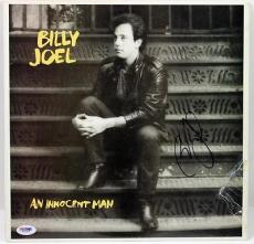 Billy Joel An Innocent Man Signed Album Cover W/ Vinyl Psa/dna #x31289
