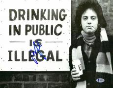 """Billy Joel Autographed 11"""" x 14"""" Drinking In Public is Illegal Photograph - Beckett COA"""