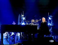 """Billy Joel Autographed 11"""" x 14"""" Playing Piano Facing Crowd Photograph - Beckett COA"""