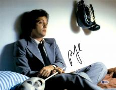 """Billy Joel Autographed 11"""" x 14"""" The Stranger- Sitting in Bed with Boxing Gloves Photograph - Beckett COA"""