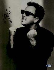 "Billy Joel Autographed 11"" x 14"" Wearing Sunglasses Fists up White & Black Photograph - Beckett COA"