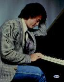 "Billy Joel Autographed 11"" x 14"" Young Billy Playing Piano Photograph - Beckett COA"