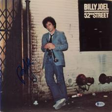 Billy Joel Autographed 52nd Street Album Cover - Beckett COA