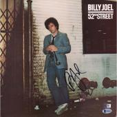 Billy Joel Autographed 52nd Street Album Cover with Vinyl - BAS