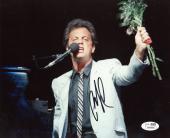 "Billy Joel Autographed 8""x 10"" Holding Flowers Photograph - JSA COA"