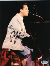 """Billy Joel Autographed 8""""x 10"""" Playing Piano in Jeans Photograph - Beckett COA"""