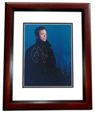 Billy Joel Autographed 8x10 Photo MAHOGANY CUSTOM FRAME