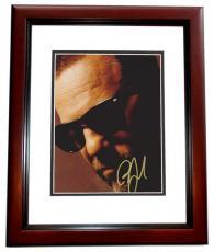 Billy Joel Autographed 8x10 Photo MAHOGANY CUSTOM FRAME