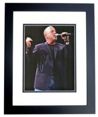 Billy Joel Autographed Concert 8x10 Photo BLACK CUSTOM FRAME - minor damage