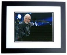 Billy Joel Autographed Concert 8x10 Photo BLACK CUSTOM FRAME