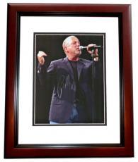 Billy Joel Autographed Concert 8x10 Photo MAHOGANY CUSTOM FRAME - minor damage