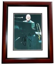 Billy Joel Autographed Concert 8x10 Photo MAHOGANY CUSTOM FRAME