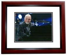 Billy Joel Autographed Concert 8x10 Photo MAHOGANY CUSTOM FRAME