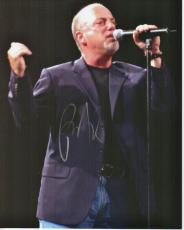 Billy Joel Autographed Concert 8x10 Photo - minor damage