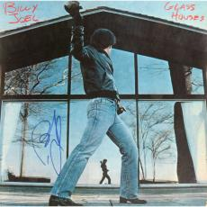 Billy Joel Autographed Glass Houses Album Cover Signed in Blue Ink - JSA COA