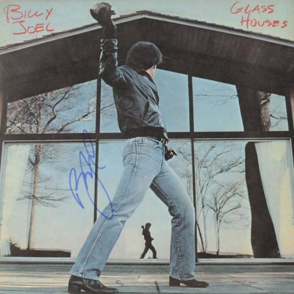 Billy Joel Autographed Glass Houses Album Cover - PSA/DNA COA