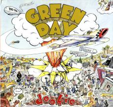 Green Day Billy Joe Armstrong Signed Dookie Album Cover AFTAL UACC RD COA