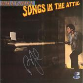 Billy Joel Autographed Songs In The Attic Album Cover with Vinyl - BAS