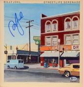 Billy Joel Autographed Streetlife Serenade Album Cover - Beckett