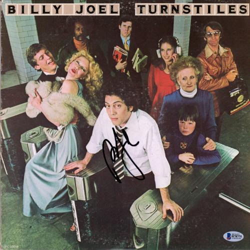 Billy Joel Autographed Turnstiles Album - BAS