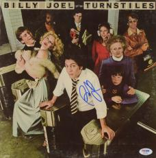 Billy Joel Autographed Turnstiles Album Cover - PSA/DNA COA