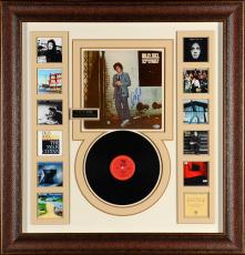 """Billy Joel Framed 38""""x 40"""" Autographed Album Cover 52nd Street Collage - Beckett COA"""