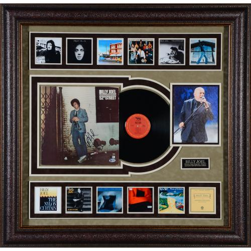 """Billy Joel Framed Autographed 46"""" x 38"""" 52nd St Album Collage - BAS"""