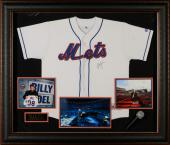 "Billy Joel Framed Autographed 49"" x 42"" x 4"" New York Mets Jersey Collage - BAS"