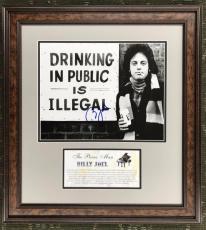 BILLY JOEL- No Drinking in Public signed 11x14 custom framed display-BAS COA