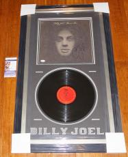 "BILLY JOEL ""Piano Man"" Signed & Framed 12"" Album w/ JSA COA #R03734 / MLB NFL"