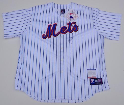 Billy Joel Piano Man Signed New York Mets Home White Jersey Psa Coa Ad48352