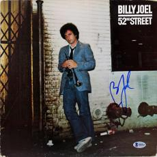 Billy Joel Signed 52nd Street Album Cover W/ Vinyl Autographed BAS #B18224