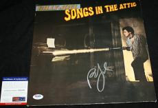Billy Joel signed Album, Songs in the Attic, Piano Man, 52nd Street, PSA/DNA