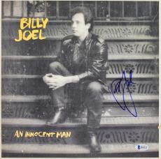 Billy Joel Signed An Innocent Man Album Cover W/ Vinyl Autographed BAS #B18222
