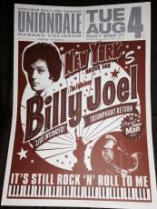 Billy Joel Signed Autograph Final Nassau Coliseum Aug 4 Original Concert Poster