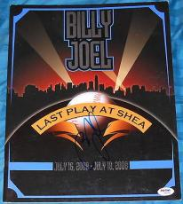 "Billy Joel Signed Autograph ""last Play At Shea"" Original Program Psa/dna W94467"