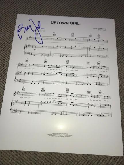 Billy Joel Signed Autograph Sheet Music Uptown Girl Beckett Bas Auto Msg Coa D