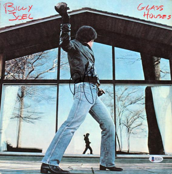 Billy Joel Signed Glass Houses Album Cover W/ Vinyl BAS #H14631