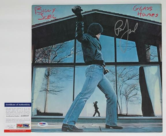 Billy Joel Signed Glass Houses Record Album Psa Coa Aa68537