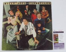 Billy Joel Signed LP Record Album Turnstiles JSA AUTO