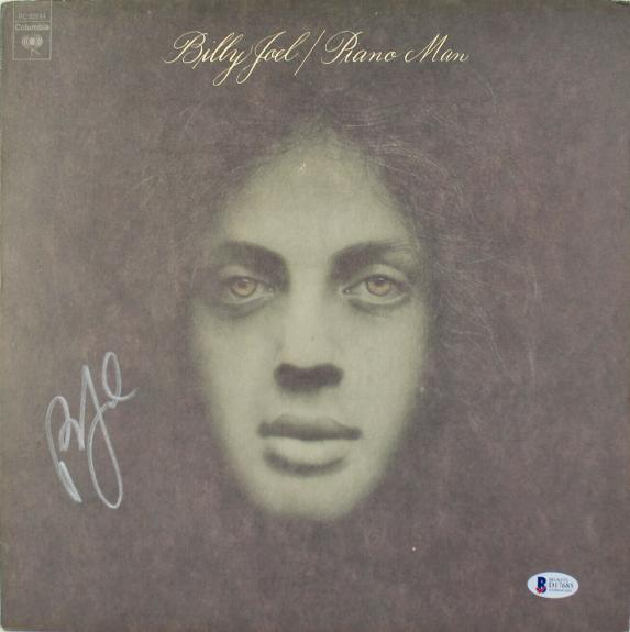 Billy Joel Signed Piano Man Album Cover W/ Vinyl BAS #D17685