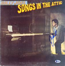 Billy Joel Signed Songs In The Attic Album Cover W/ Vinyl BAS #B18225
