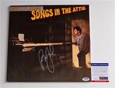 Billy Joel Signed Songs In The Attic Record Album Psa Coa V84015