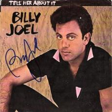BILLY JOEL signed TELL HER ABOUT IT - photo with - 45 RPM PICTURE SLEEVE