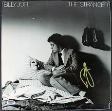 Billy Joel Signed 'The Stranger' Album Cover W/ Vinyl PSA/DNA #AB62005