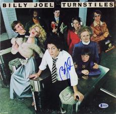 Billy Joel Signed Turnstiles Album Cover Autographed BAS #B18220
